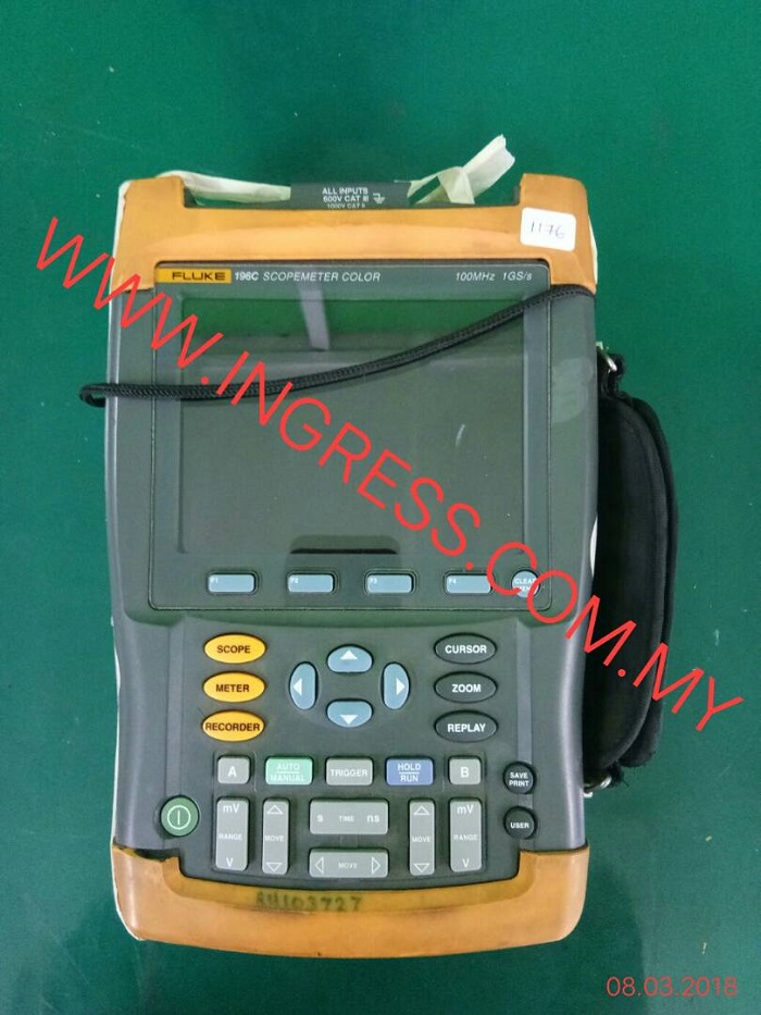 Repair FLUKE SCOPEMETER COLOR 196C