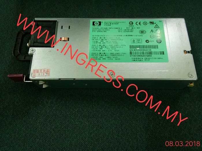 Repair HP POWER SUPPLY DPS 1200FBA