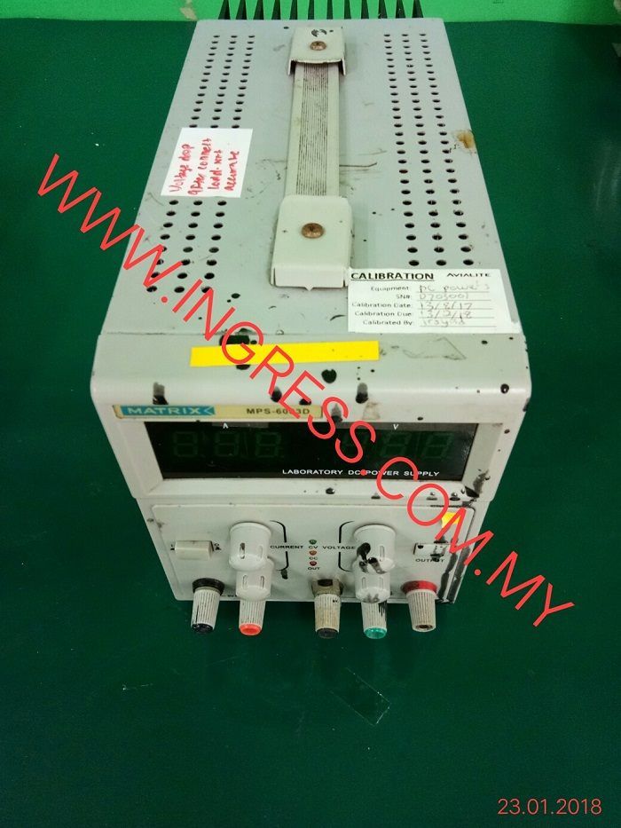 Repair MATRIX POWER SUPPLY MPS-6003D
