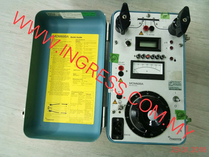 Repair MEGGER MICROHMETER MOM600A